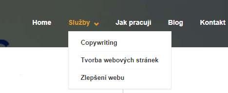 Tvorba webu krok 2_položky menu