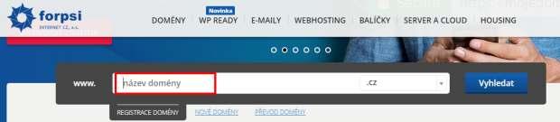 Tvorba webu krok 1-registrace domény
