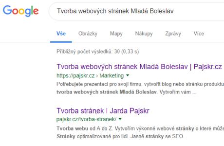 Tvorba webových stránek v Mladé Boleslavi s administrací