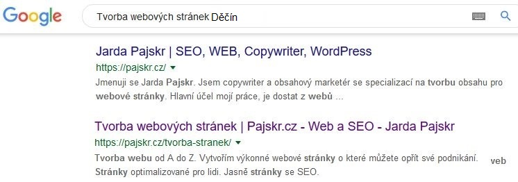 Tvorba webových stránek Děčín