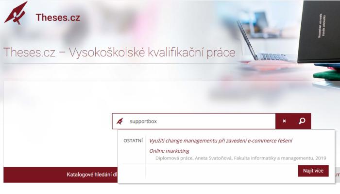 Hlavní strana Theses.cz