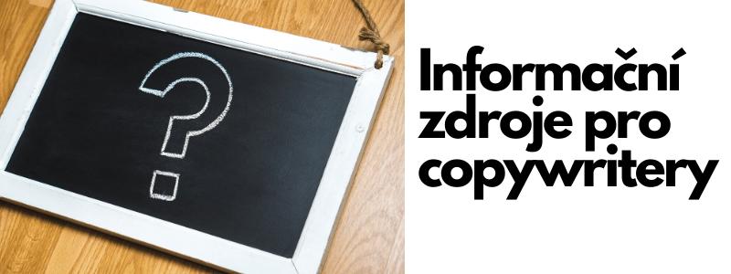 Informační zdroje pro copywriting