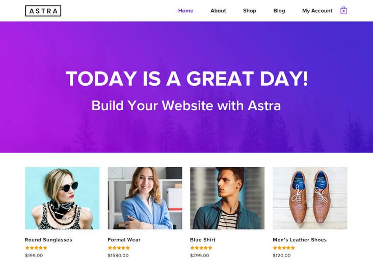 Druhá nejlepší WordPress šablona Astra